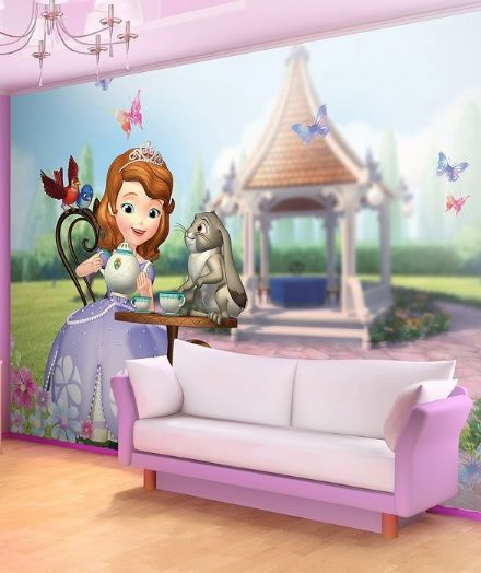 Princess Sofia Tea Time paper wallpaper